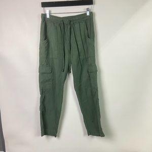 SANCTUARY Women's Sz Sm Green Drawstring Pants